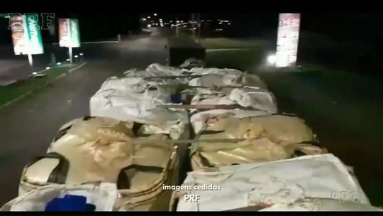 Caminhoneiro paraguaio é preso transportando mais de 500 kg de maconha