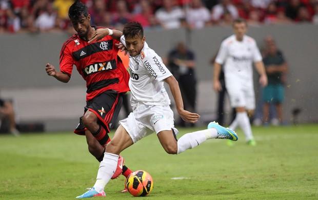 Neymar Léo Moura Santos x Flamengo (Foto: Reuters)