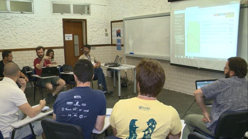 Encontro de pesquisadores em Vila Velha — Foto: Reprodução/TV Gazeta