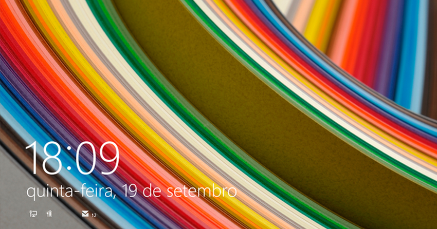 Como mudar a tela de bloqueio do Windows 8.1