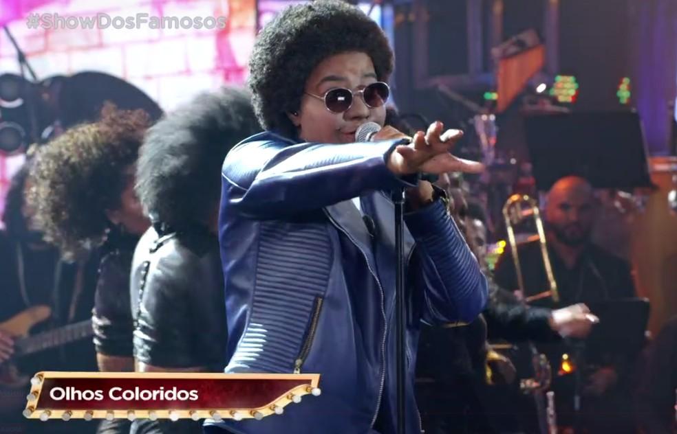 Ludmilla homenageou Sandra de Sá cantando 'Olhos Coloridos' e 'Joga fora no Lixo' — Foto: TV Globo