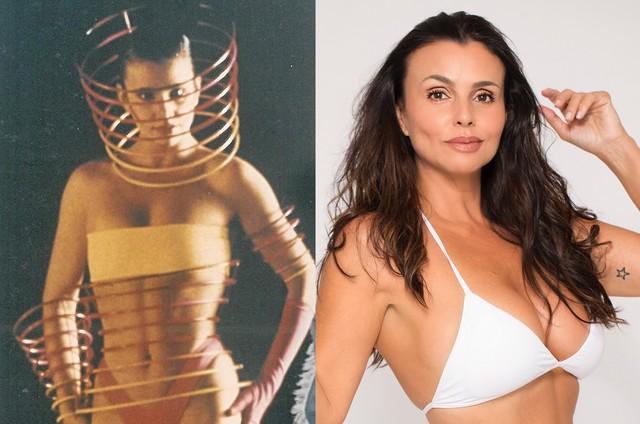 Andrea Mognon em 1989 e hoje em dia (Foto: Arquivo pessoal / Divulgação)