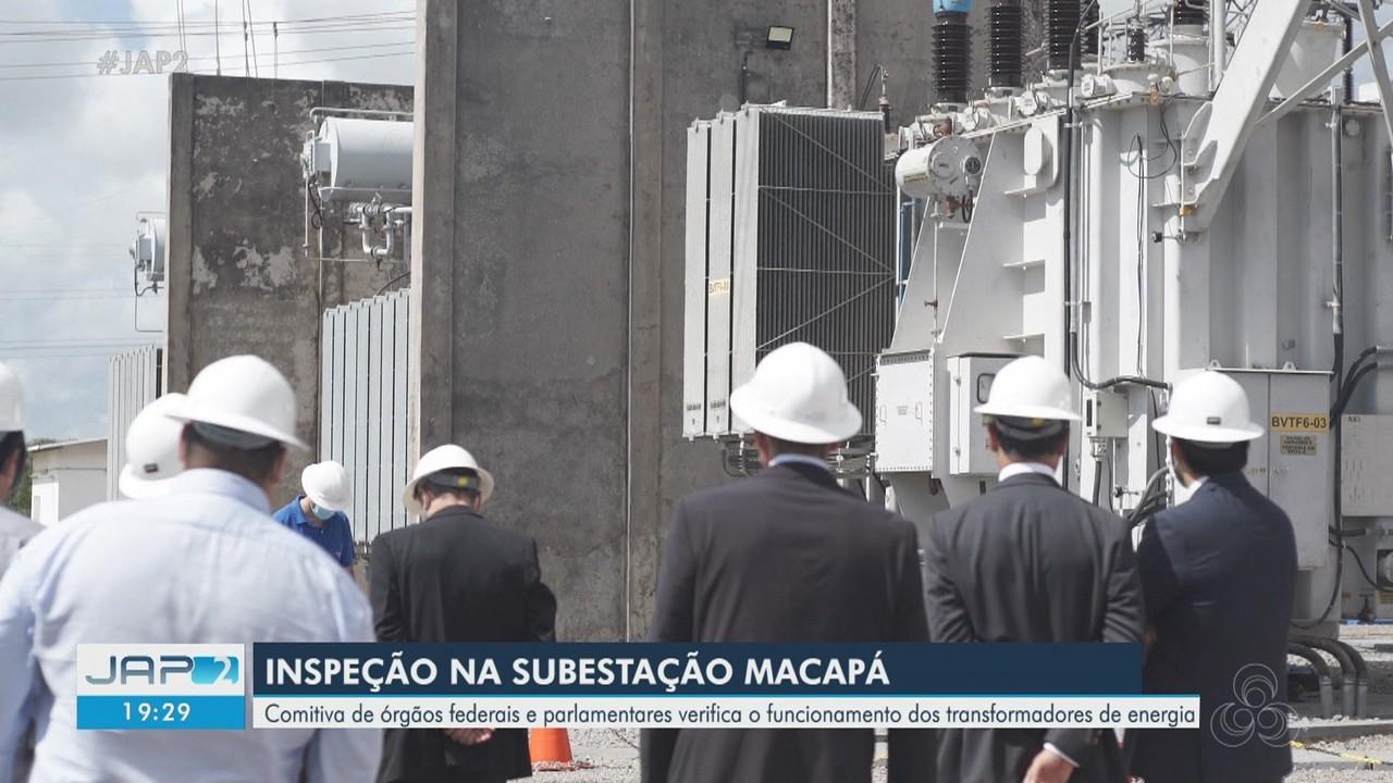 Comitiva de órgãos federais e parlamentares inspeciona principal subestação do Amapá