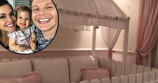 Thais Fersoza mostra cama gigante de Melinda, sua filha com Teló (Foto: Reprodução)