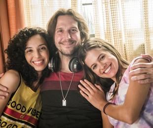 Vladimir Brichta com Agnes Brichta e Micheli Amado em 'Quanto mais vida, melhor!' | TV Globo