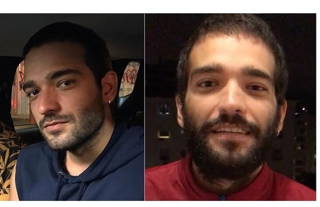 Humberto Carrão, o Sandro da novela de Manuela Dias, surgiu barbudo e com o cabelo maior (Foto: Reprodução)