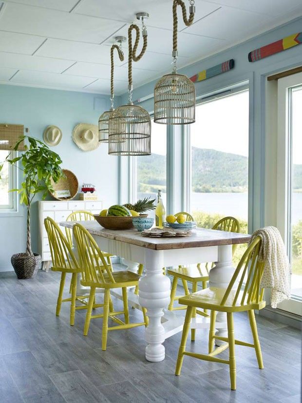 Décor do dia: sala de jantar em estilo escandinavo com toques tropicais (Foto: Divulgação)