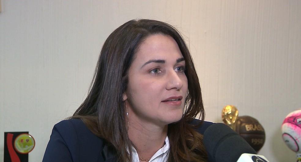Michelle Ramalho, FPF, Federação Paraibana de Futebol — Foto: Reprodução / TV Cabo Branco