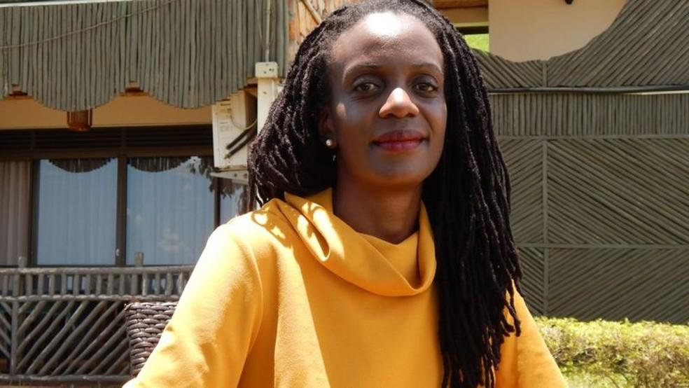 Catherine Nakalembe ganhou o prêmio Africa Food Prize deste ano por trabalho pioneiro usando imagens de satélite — Foto: BBC