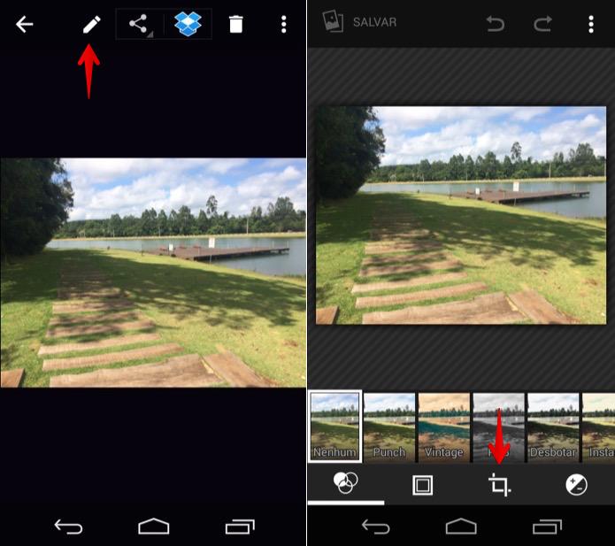 Editando foto da galeria do Android (Foto: Reprodução/Helito Bijora)
