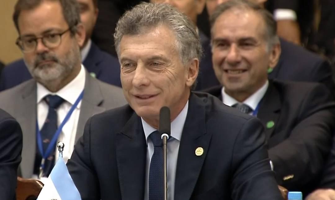 Mauricio Macri, presidente da Argentina, discursa