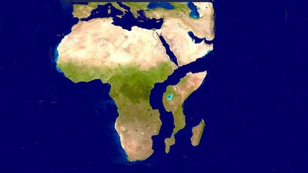 O futuro continente. (Foto: Reprodução / Twitter)