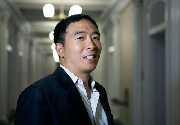 Andrew Yang. Empresário anunciou pré-candidatura pelo partido democrata (Foto: Divulgação/Yang 2020)