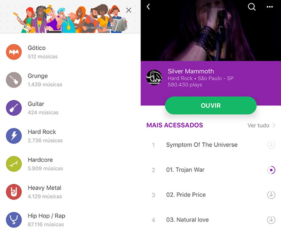 Para descobrir o que há de mais novo na música nacional, o Palco MP3 é o aplicativo certo — Foto: Reprodução/Amanda de Almeida