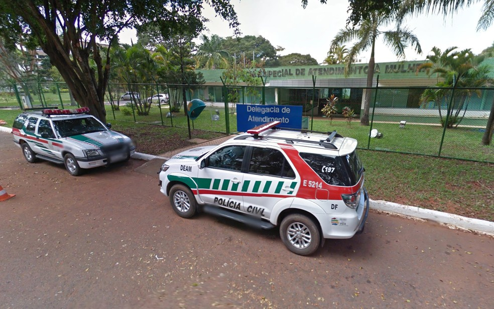 Fachada da Delegacia Especial de Assistência à Mulher (Deam), em Brasília (Foto: Google/Reprodução)