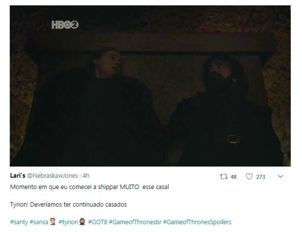 Internauta comenta falta de luminosidade em cena de 'GOT' (Foto: Reprodução / Twitter)