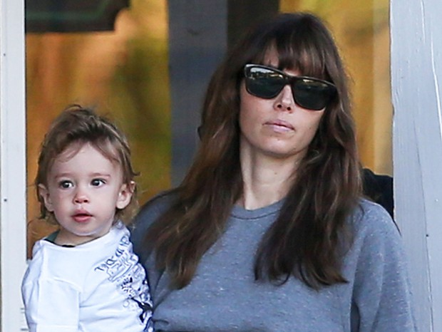 Jessica Biel e Silas (Foto: The Grospy Group)