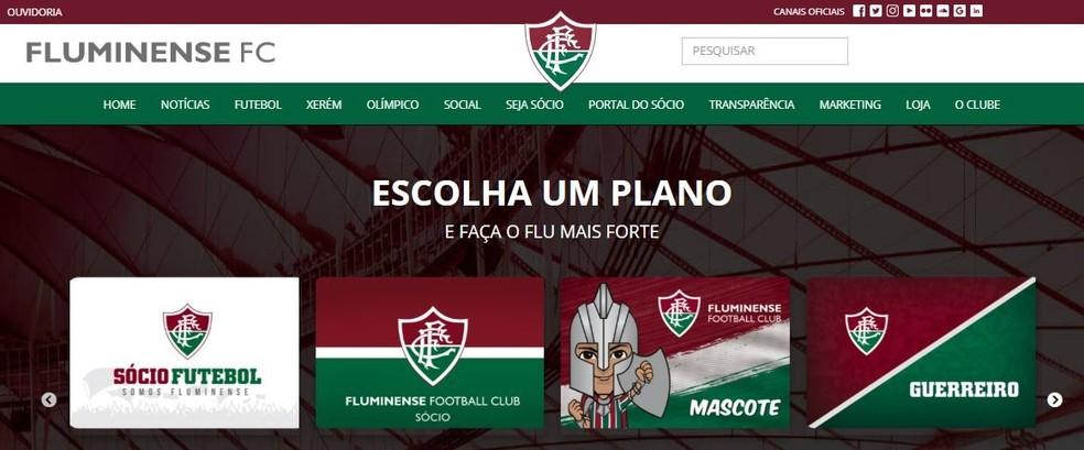 Planos de sócio-torcedor do Fluminense terão benefícios dobrados durante pandemia — Foto: Reprodução