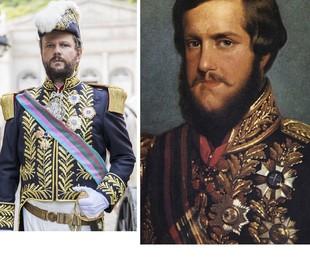 Olha como será o figurino de Selton Mello em 'Nos tempos do Imperador', novela das 18h em que viverá Dom Pedro II | Globo e arquivo