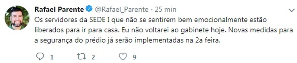 Secretário de Educação do DF, Rafael Parente, dispensa servidores da pasta após invasão  — Foto: Twitter/Reprodução