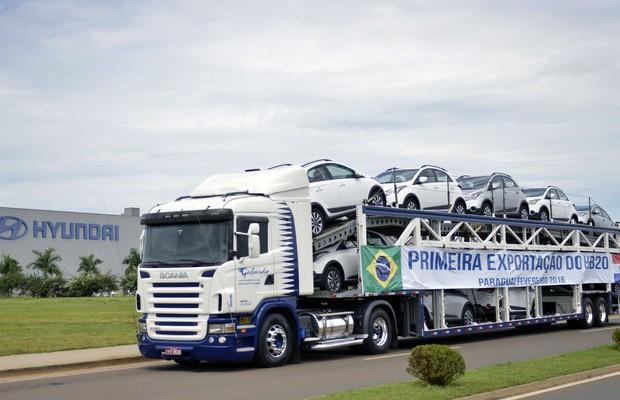 Hyundai inicia exportação do HB20X (Foto: Divulgação)