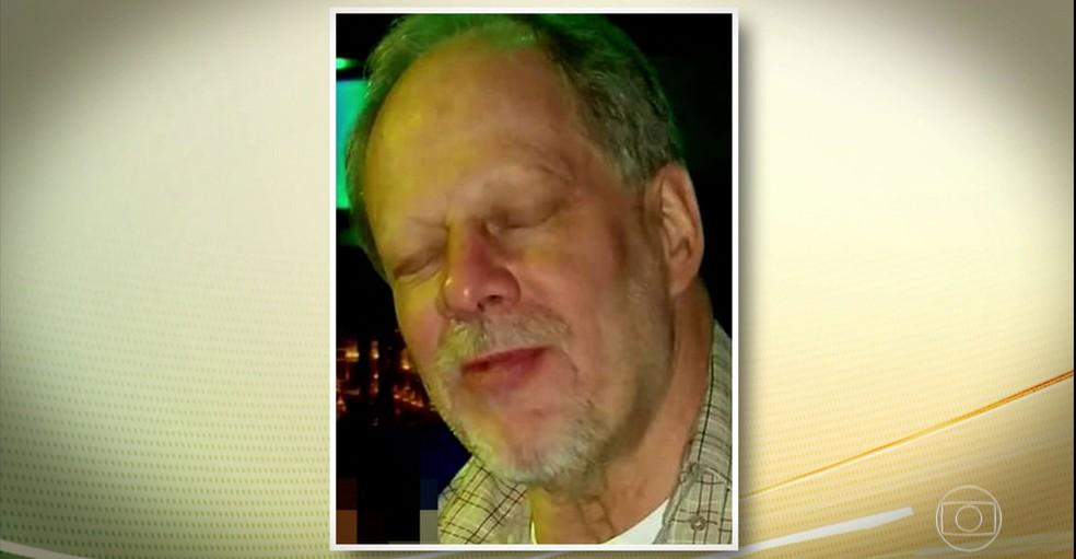 Foto de Stephen Paddock, suspeito de ter atirado contra multidão em Las Vegas, divulgada pelas redes CNN e a ABC (Foto: Reprodução JH/ G1)