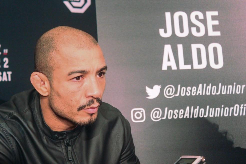 José Aldo agora espera por um novo adversário para o UFC 233 — Foto: Marcelo Barone