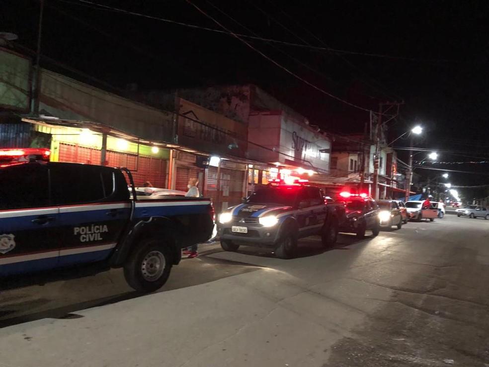 """Operação """"Pacificação"""" fiscaliza estabelecimentos no Jurunas, em Belém. — Foto: Reprodução / Polícia Civil"""