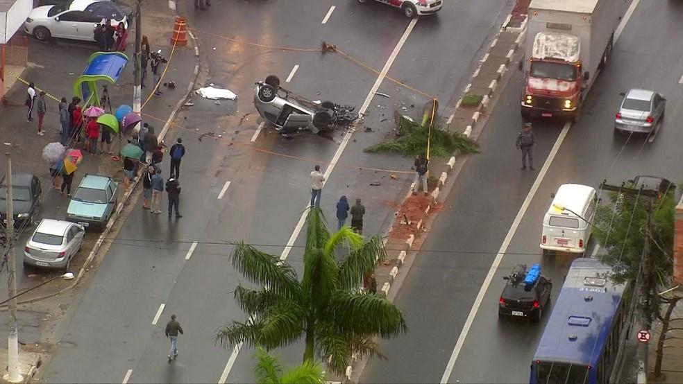 Acidente em Carapicuíba (Foto: Reprodução/TV Globo)