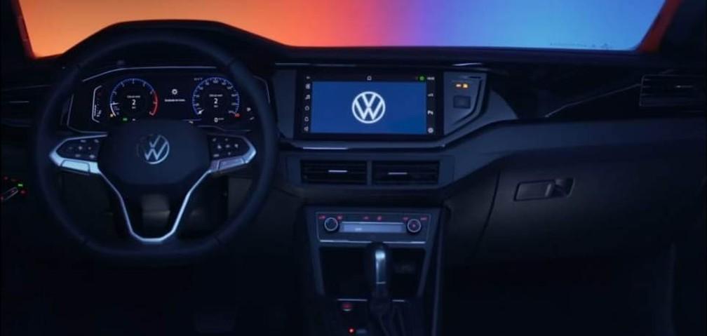 Painel do novo Volkswagen Nivus — Foto: Reprodução/Volkswagen