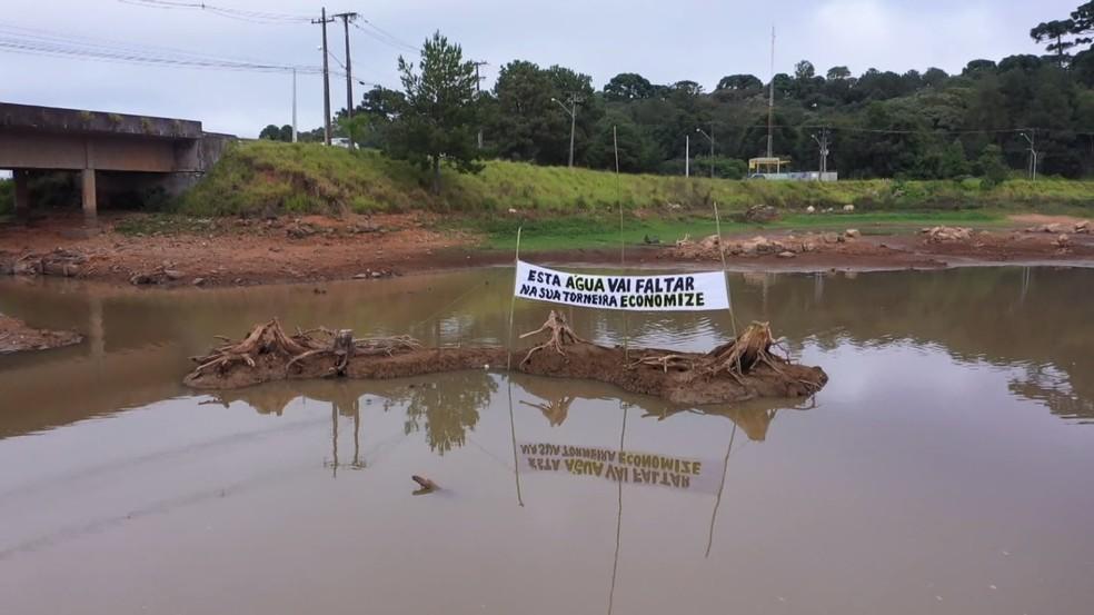 Sanepar alerta para nível crítico disponível em reservatórios de água da Região de Curitiba — Foto: Arquivo/RPC