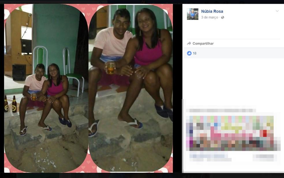 Mulher foi estrangulada até a morte pelo ex-companheiro, que se matou em seguida — Foto: Reprodução/ Facebook