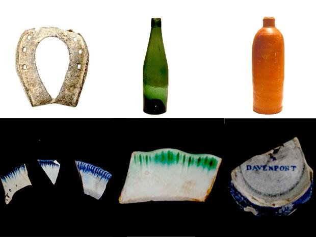 Peças encontradas durante as escavações (Foto: Manoel Gonzalez/Arquivo Pessoal)