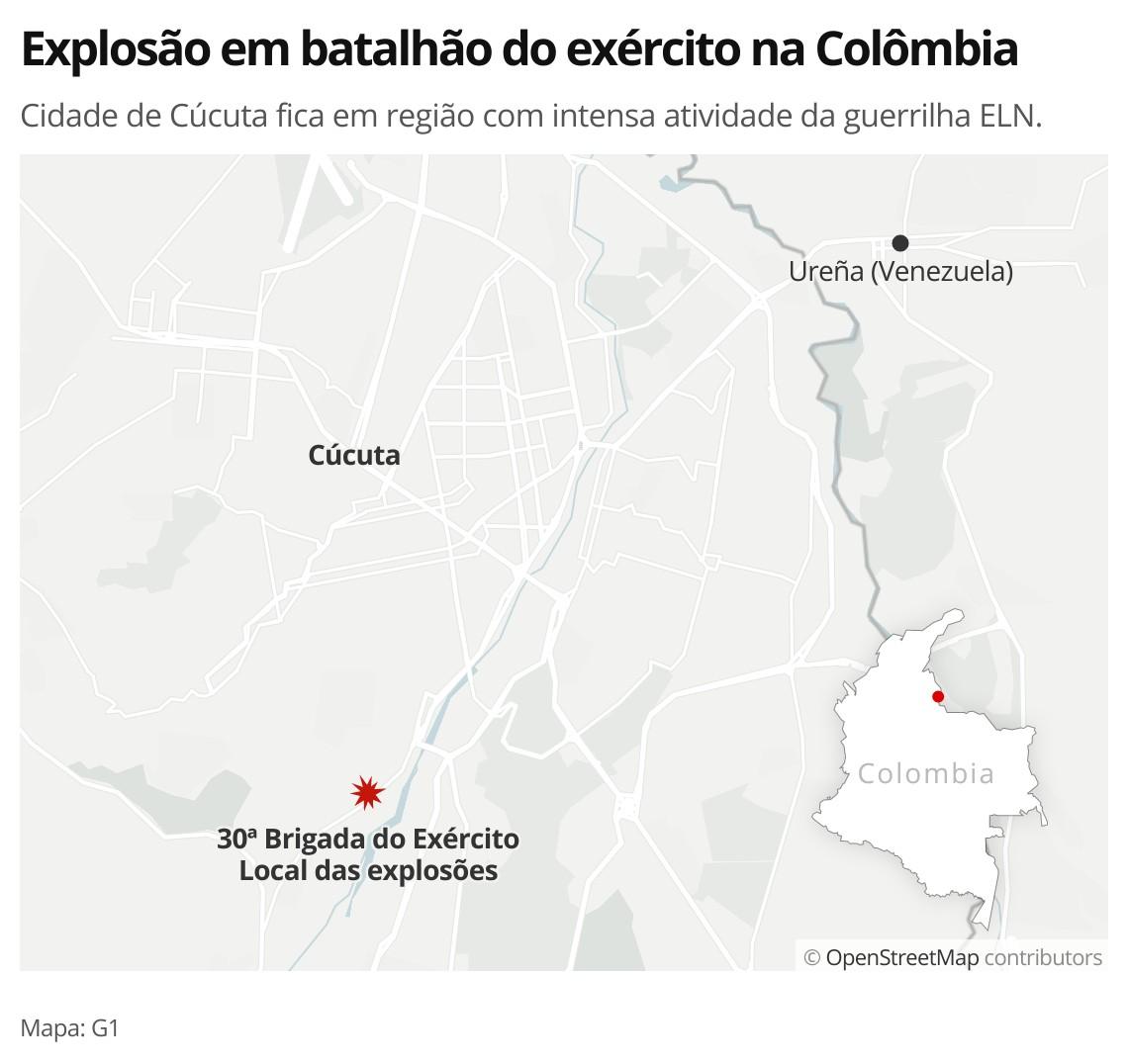 Carro-bomba explode em batalhão do exército na Colômbia