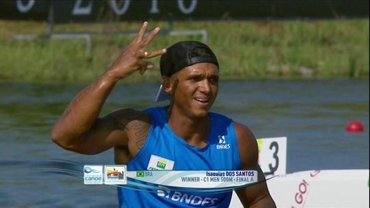 Galvão atende pedido de Isaquias Queiroz e narra vitória do tricampeão mundial