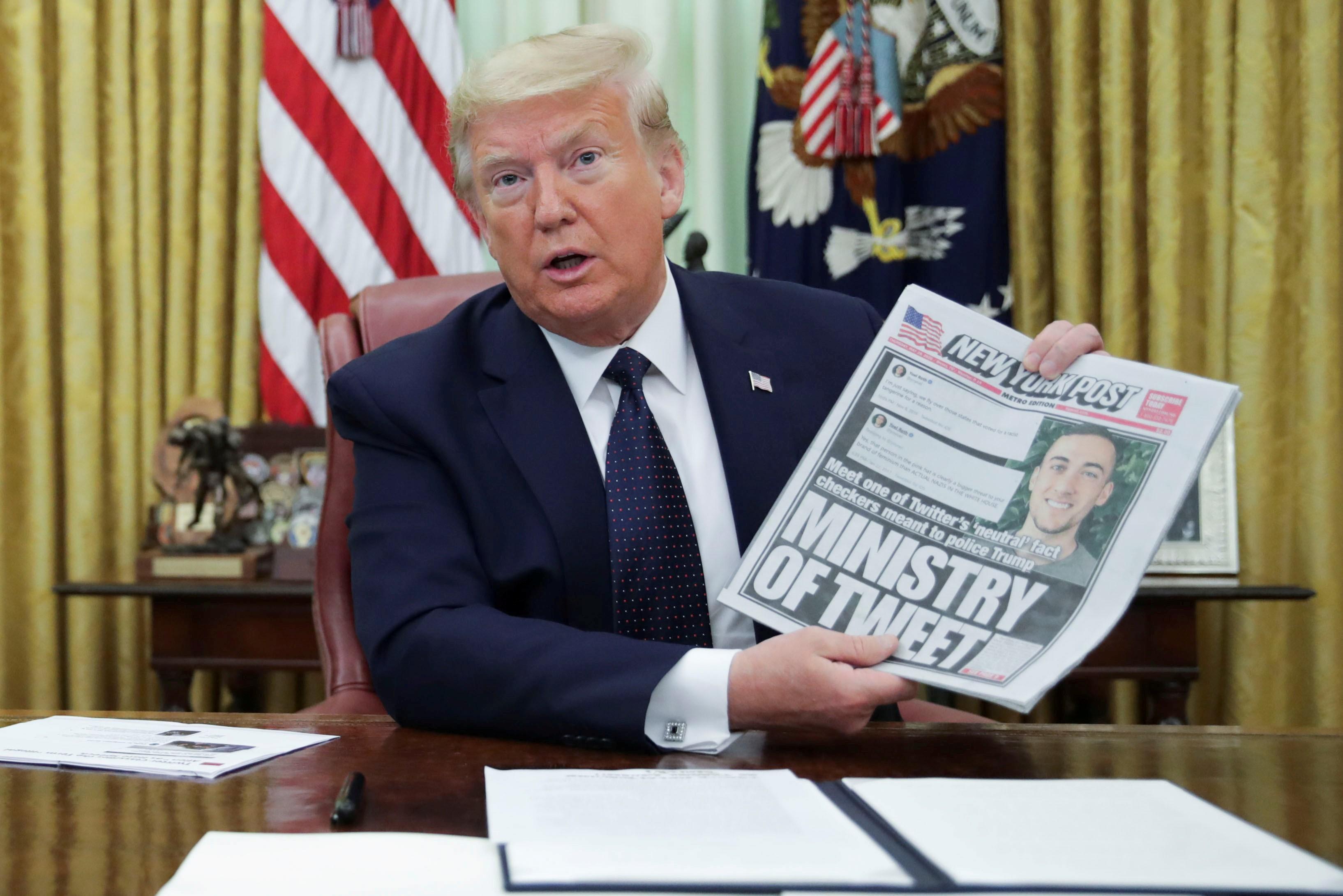 Com comícios paralisados e tuítes verificados, campanha de Trump recorre a aplicativo próprio