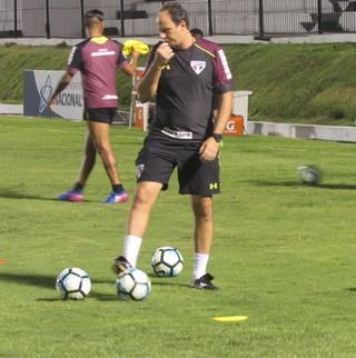 Rogério Ceni treino São Paulo Natal (Foto: Marcelo Prado)