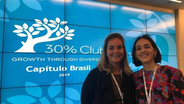 As co-chair da campanha 30% Club Brasil, Anna Guimarães e Olivia Ferreira (Foto: Érica Carnevalli)