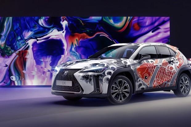 Lexus UX tatuado (Foto: Divulgação)