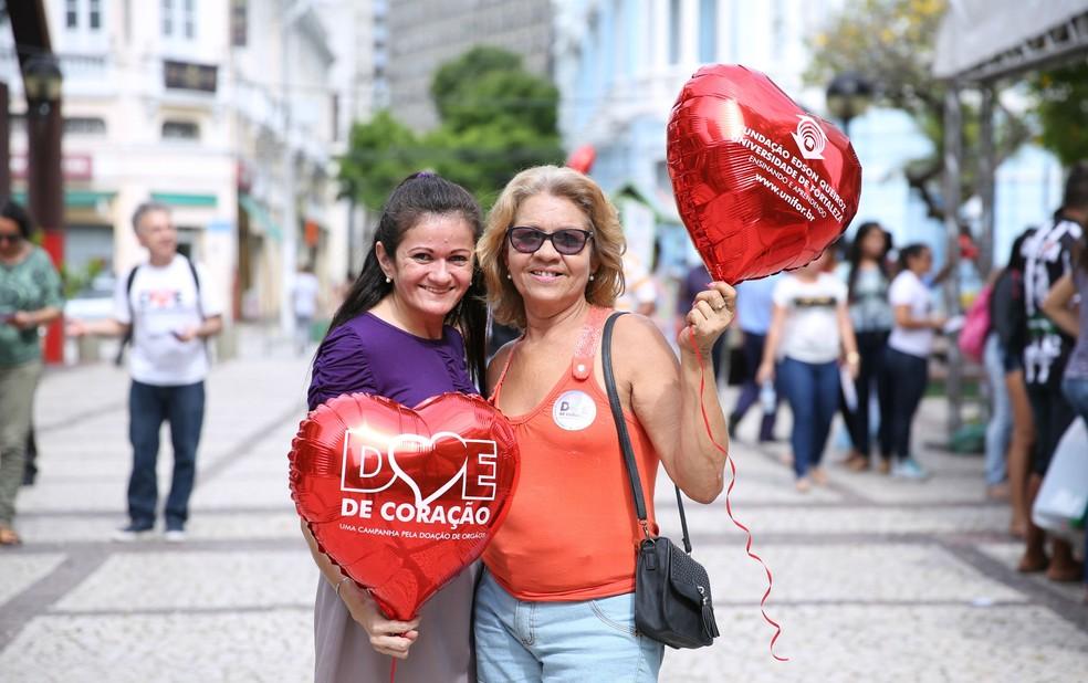 Movimento Doe de Coração mobiliza população cearense para o engajamento na campanha de doação de órgãos.  (Foto: Ares Soares/Unifor)