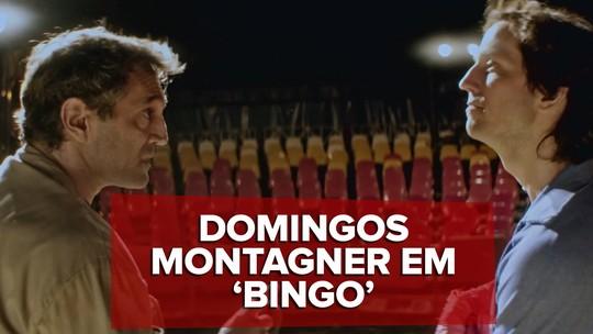 Em 'Bingo', Domingos Montagner ensina palhaçadas a Vladimir Brichta; veja cena