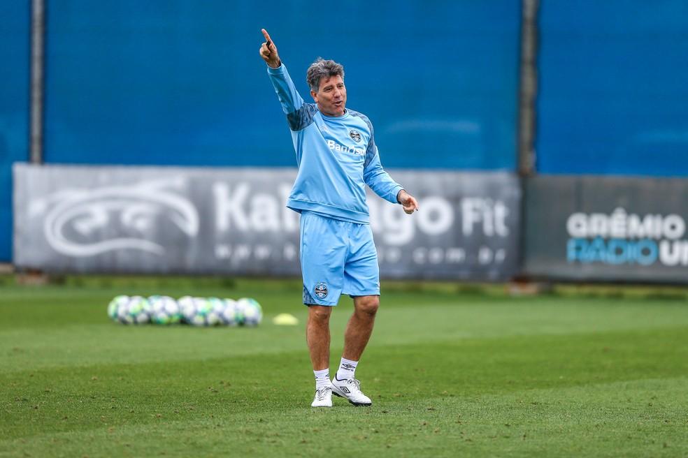 """Renato lidera o Grêmio em sua """"decisão"""" no Brasileiro — Foto: Lucas Uebel/Grêmio"""