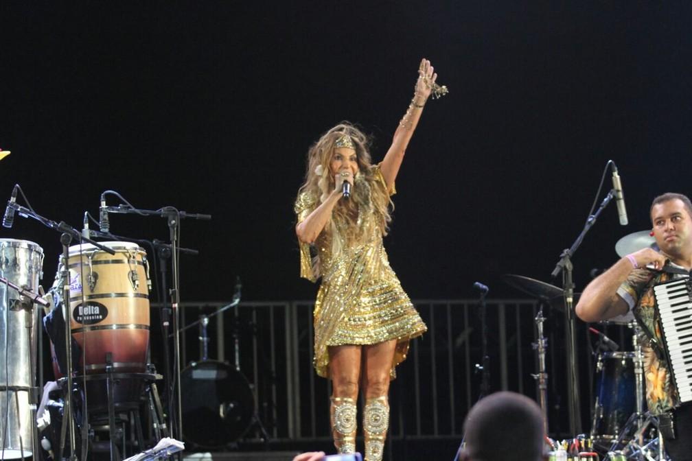 Elba fez um show completo, com 20 músicas, e clássicos do pop e MPB em ritmo de frevo (Foto: Marlon Costa/Pernambuco Press)
