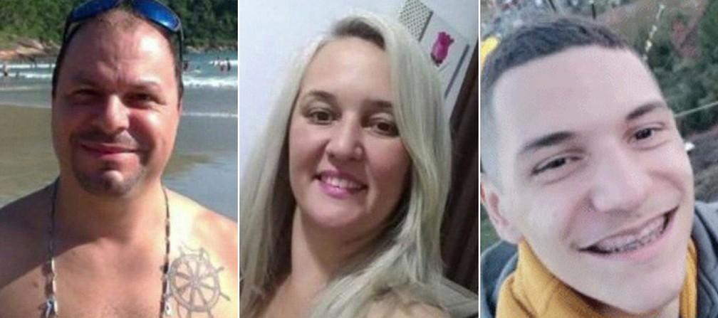 Romuyuki, Flaviana e Juan Gonçalves foram encontrados carbonizados no ABC — Foto: Reprodução/TV Globo