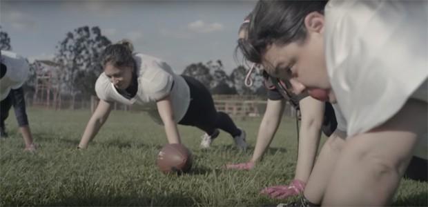 O Portuguesa Futebol Americano Feminino (Foto: Reprodução Hysteria)