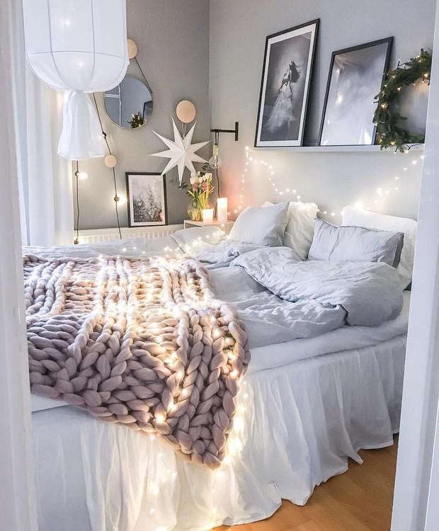 O quarto do canceriano deve ser calmo e aconchegante (Foto: Pinterest/ Reprodução)