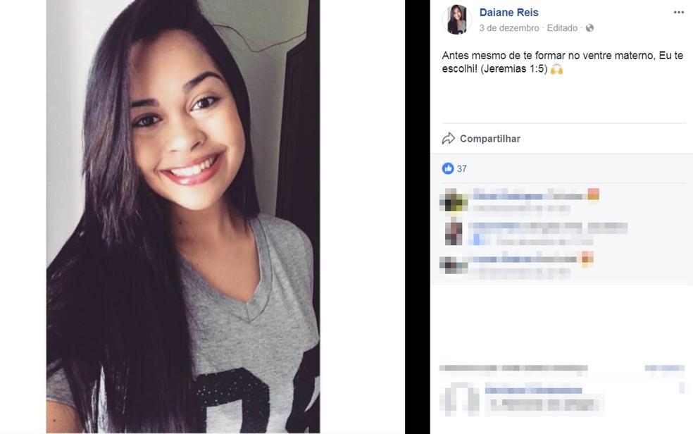 Jovem de 25 anos foi encontrada morta em matagal (Foto: Reprodução/ Facebook)