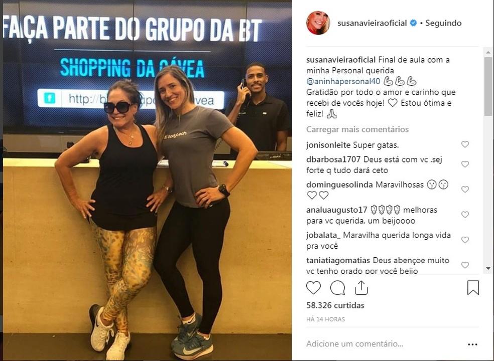 Susana Vieira agradece carinho dos fãs após confirmar que está com leucemia — Foto: Reprodução/Instagram