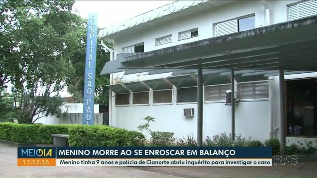 Criança morre após se enroscar em corda de balanço em Cianorte, afirma PM