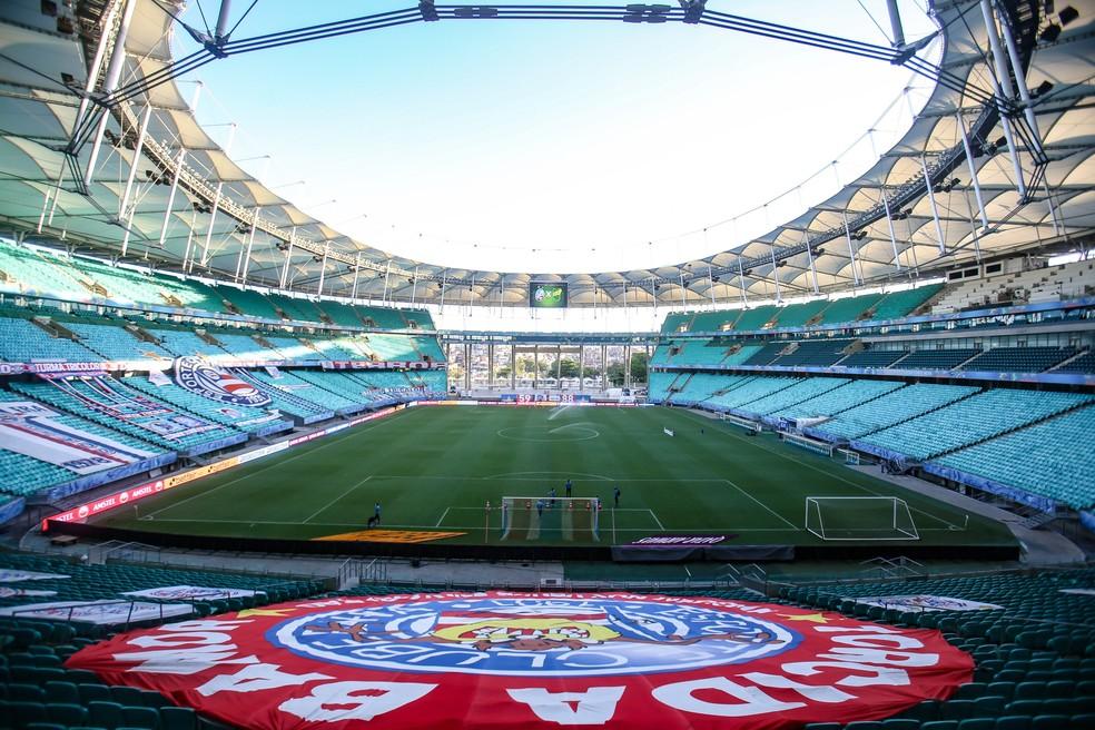 Arena Fonte Nova preparada para receber Bahia x Defensa y Justicia, em 2020 — Foto: CONMEBOL